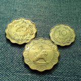 #91 Lot 10 , 25 , 50 Centimos 1953 Paraguay