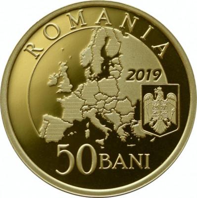 Romania 50 Bani PROOF 2019 - Preluarea Președinției Consiliului Uniunii Europene foto