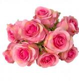 Cumpara ieftin Buchet flori artificiale, roz, Trandafiri, 40 cm