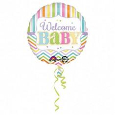 Balon botez folie metalizata 43cm Baby Brights