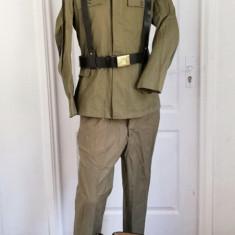 Uniforma Tinuta militara kaki vara RSR Comunista Sergent Intendenta cu Cizme
