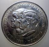 7.818 MAREA BRITANIE ANGLIA 25 NEW PENCE 1981 PRINCE CHARLES LADY DIANA, Europa, Cupru-Nichel