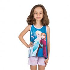 Compleu fete Frozen Elsa si Anna lila
