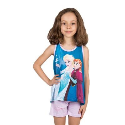 Compleu fete Frozen Elsa si Anna lila foto