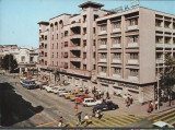 CPI B 11893 CARTE POSTALA - CONSTANTA. HOTEL CONTINENTAL, AUTOTURISME, AUTOBUZ