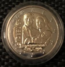 LUXEMBURG moneda 2 euro comemorativa 2020(2) - nastere print, UNC foto