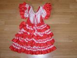 Costum carnaval serbare rochie dans flamenco pentru copii de 1-2 ani, Din imagine