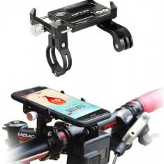 GUB G-88 Suport metalic telefon mobil + GoPro pt bicicleta trotineta scuter