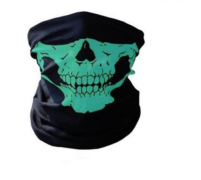 Cagula Masca Craniu Schelet Cap De Mort Verde