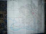 Harta mare Judet.DOLJ ,dim.=133x128cm 1981 RSR Inst. Geodezie