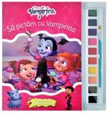 Disney. Vampirina. Să pictăm cu Vampirina. Carte de colorat cu pensulă și acuarele