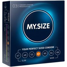 Prezervative My Size 57mm XXL, 3 bucati