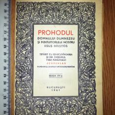 Cumpara ieftin CARTE VECHE RELIGIE - PROHODUL DOMNULUI DUMNEZEUSI A MANTUITORULUI IISUS   -1961