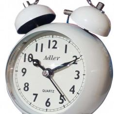 Ceas cu desteptator Adler 7144-W 9x9 cm