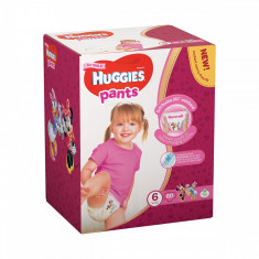 Scutece Huggies Pants Box Girls, Nr 6, 15 - 25 Kg, 60 buc