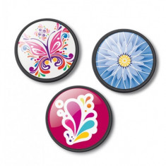Set 3 insigne pentru ghiozdan roller - Floralia | Vector International