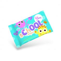 Pachet 15x Servetele Umede Igienice Antibacteriene Silky School Wipes pentru Copii