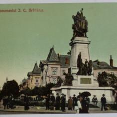 BUCURESTI , MONUMENTUL I. C. BRATIANU , CARTE POSTALA ILUSTRATA , NECIRCULATA