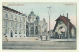 cp Timisoara : Templul Evreiesc (Zsido templom) - circulata 1913, timbru