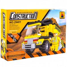 Set cuburi Lego,actual investing, model camion constructii, 115 piese