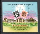 Romania.1990 Expozitia filatelica LONDRA-colita  HR.525, Nestampilat