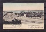 DOBROGEA   SALUTARI DIN  CONSTANTA    PORTUL  IN  LUCRARE   CIRCULATA  1907  UPU