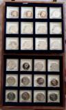 Lot, cutie numismatică cu 24 monede 1 și 5 RUBLE Rusia - aniversare/comemorative