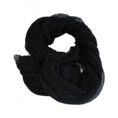 Esarfa clasica de culoare negru, gri inchis,argintiu cu fir lucios