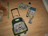 Cumpara ieftin Rucsac (troller) pentru mers la scoala, penar, creioane colorate, alte rechizite, Unisex, Troler, element
