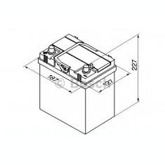 Baterie de pornire DAEWOO MATIZ (KLYA) (1998 - 2016) BOSCH 0 092 S40 190