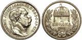 Ungaria 1915 - 1 korona Ag, UNC