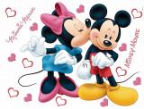 Sticker Mickey Mouse si Minnie - 65x85cm - DK882