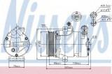Compresor clima / aer conditionat OPEL ASTRA G Cupe (F07) (2000 - 2005) NISSENS 89024