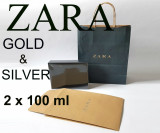 Set Parfum barbati Zara Man Gold Silver 2 x 100 ml fresh casual NOU