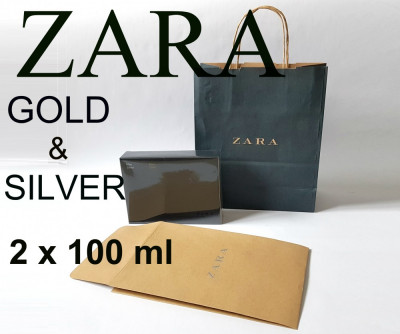 Parfum barbati ZARA Man Gold Silver SET 2 x 100 ML 100% Original NOU nu avon ori foto