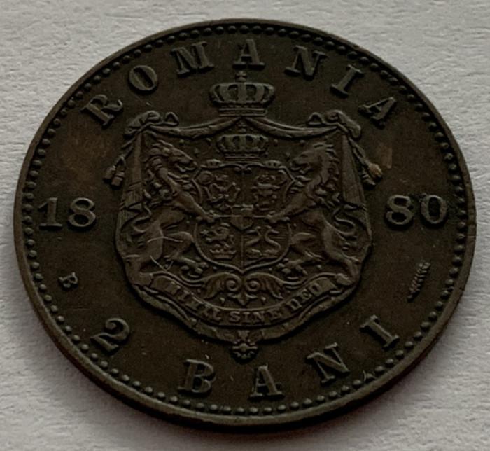 2 Bani 1880, Romania, batere dubla la DOMNUL