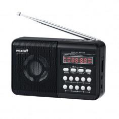 Radio portabil Wster WS-229, afisaj LCD