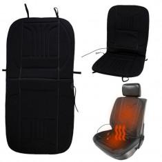 Husa scaun auto cu incalzire electrica 12V, 2 trepte de putere
