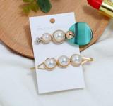 Set 2 Agrafa Pearls Blue Stone Elegant 10A22A129