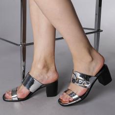 Papuci dama Chloe argintii