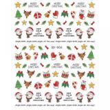 Abtibild unghii SD-006 Jingle Bells