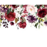 Kit pictura pe numere cu flori, DZ2053