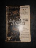 IOAN R. NICOLA - ACUMULATORII ELECTRICI (1944), Alta editura