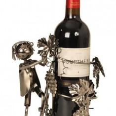 Suport pentru sticla vin model culegator struguri H 21 cm