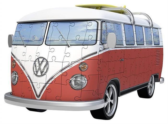 Puzzle Ravensburger 3D Vw Bus T1 Surfer Edition 162 Pcs