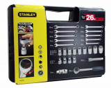 Trusa 26 piese chei combinate si tubulare 1/2 in sistem metric STANLEY