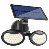 Cumpara ieftin Lampa solara cu doua brate 56 LED-uri si senzor de miscare