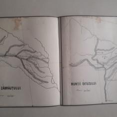 Hartă veche Munții Oituzului și Munții Zăbrăuțiului