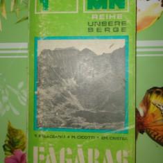 Muntii Fagaras colectia muntii nostri cu harta nr.1/carte in limba germana