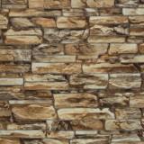 Tapet 3D, imitatie de piatra, caramiziu, spuma, bucatarie, HC11026-28